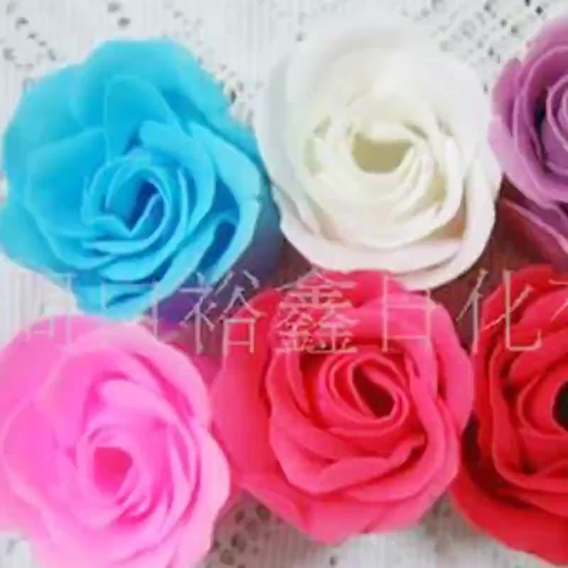 Factory direct supply Cogen gauze box bath multi color soap flower gift fresh soap flower disposable